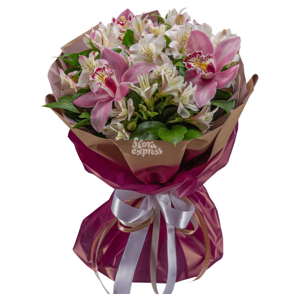 Букет «Flora Express», Орхидеи и Альстромерии